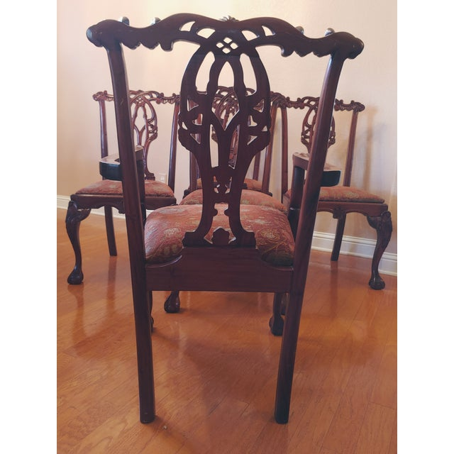 Chippendale-Style Mahogany Dining Chairs - Set of 6 For Sale - Image 12 of 13