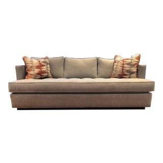 Contemporary Bench Seat Sofa & Pillows