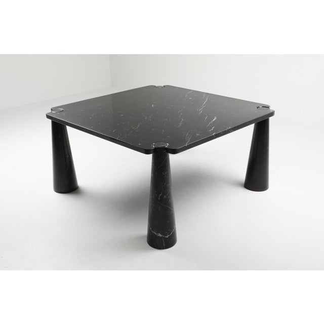 1970s Angelo Mangiarotti 'Eros' Square Marble Dining Table For Sale - Image 5 of 9