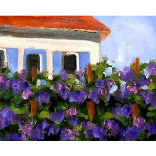 Lynne French Vineyard Winery Cottage Plein Air Painting For Sale