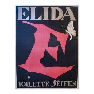 Original Art Deco Oversize Poster, Julius Klinger, Elida