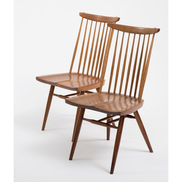 Mid-Century Modern Set of Six Early George Nakashima New Chairs, United States, 1958 For Sale - Image 3 of 13