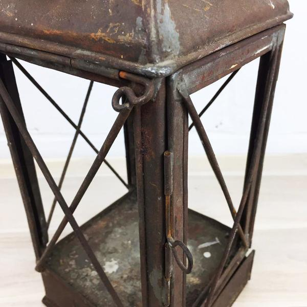 Antique Rustic French Style Candle Lantern - Image 5 of 10