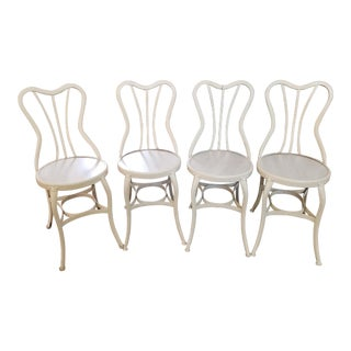 Uhl Toledo Metal Ice Cream Parlor Industrial Metal Chairs- Set of 4 For Sale