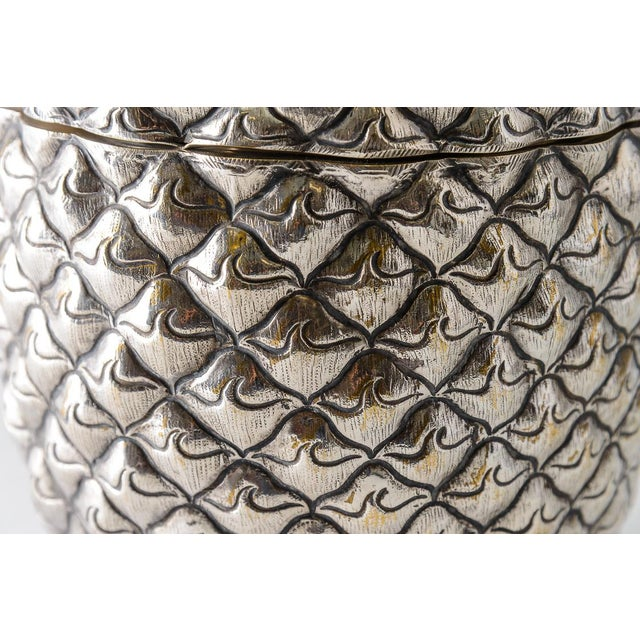 Metal Fabulous Giant Pineapple Silver Box/Ice Bucket Portugal For Sale - Image 7 of 10