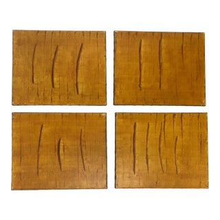 """Set of Four Paintings """"by the Grain"""" For Sale"""