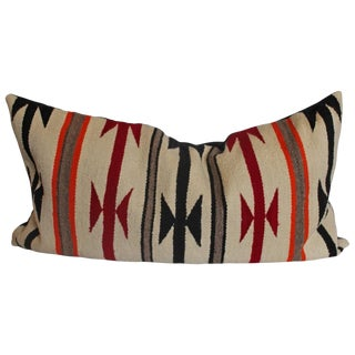 Geometric Navajo Indian Weaving Bolster Pillow For Sale