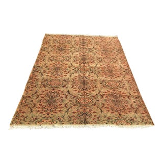 Hand Knotted Turkish Area Rug For Sale