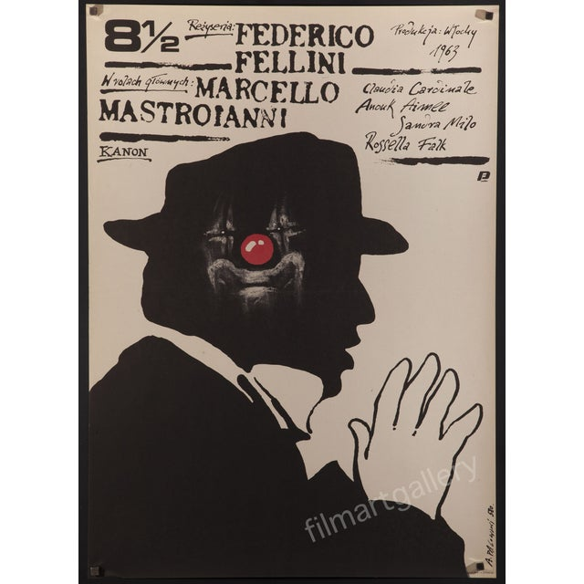 "Federico Fellini's ""8 1/2"" 1989 Polish Poster - Image 1 of 2"