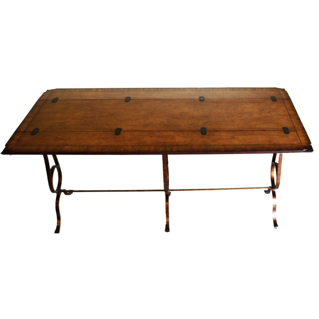 Traditional Stanley Villette Flip Top Console Table For Sale - Image 3 of 8