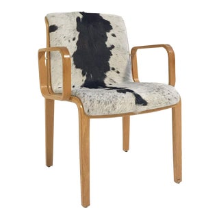 Vintage Bill Stephens for Knoll Chair Restored in Brazilian Cowhide For Sale