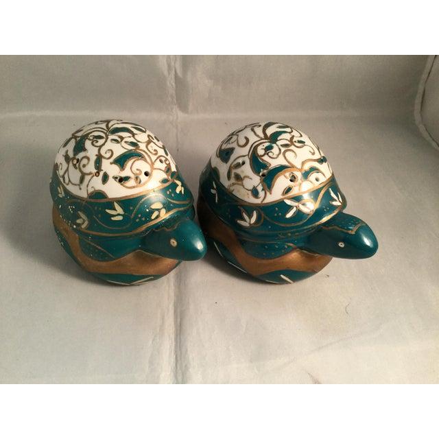1990s Vintage Elizabeth Arden Porcelain Turtles-a Pair For Sale - Image 5 of 5