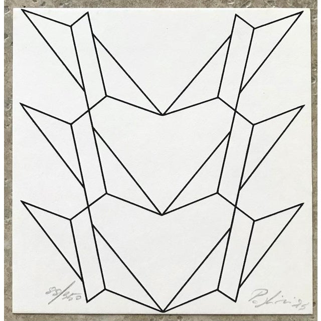 1975 Abstract Composition Lithograph by Giorgio Pagliari For Sale In Palm Springs - Image 6 of 6