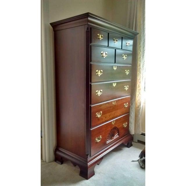 Gustavian 9-Dresser Tall Chest - Image 2 of 7