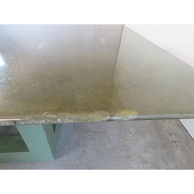 Shagreen Top Painted Wood Dining Table For Sale In Philadelphia - Image 6 of 11