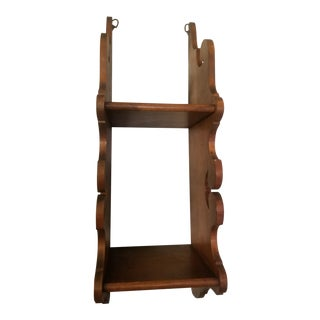 20th Century Boho Chic Solid Wood Curio Shelves For Sale
