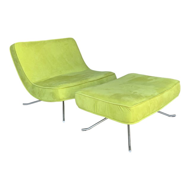 Ligne Roset Pop Chair and Ottoman by Christian Werner For Sale