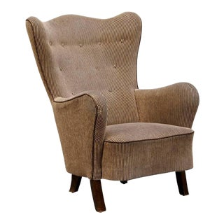 Danish Modern Wingback Armchair For Sale
