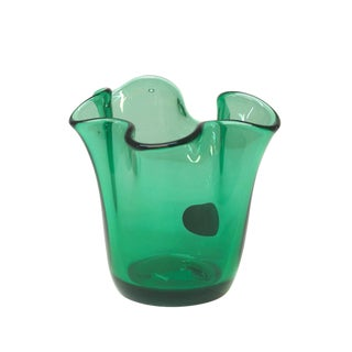 Small Pulled Glass Vase by Krosno