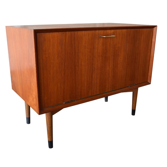 Here is the perfect solution to store your vinyl collection in style: This small 1960's cabinet, recently imported from...