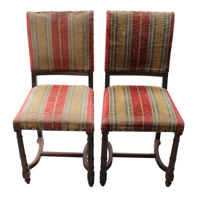 Vintage Spanish Revival Style Chairs - A Pair For Sale