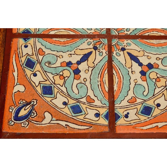 Intact Catalina Tile and Oak Side Table For Sale - Image 4 of 7
