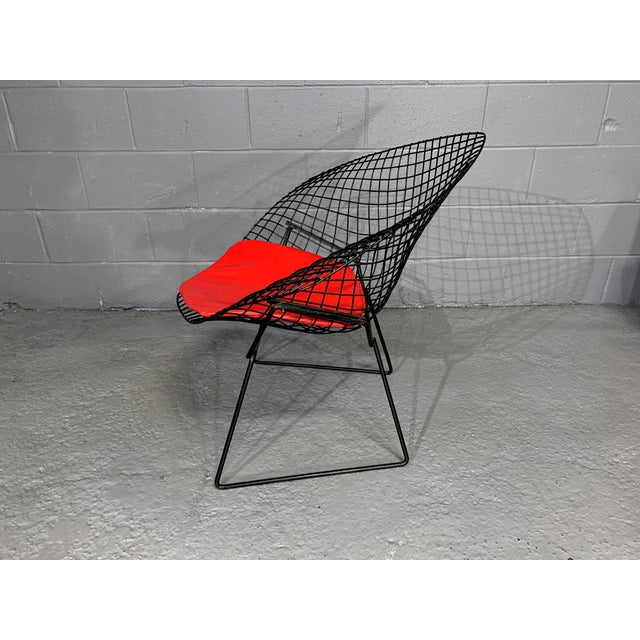 Contemporary Harry Bertoia for Knoll Mid-Century Modern Diamond Chair With Red Seat C. 1952 For Sale - Image 3 of 13