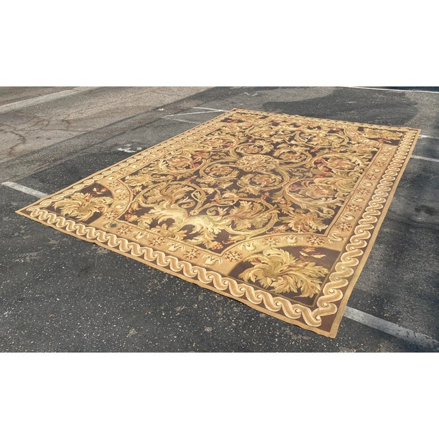 Fine French Aubusson Needle Point Rug For Sale In Los Angeles - Image 6 of 6