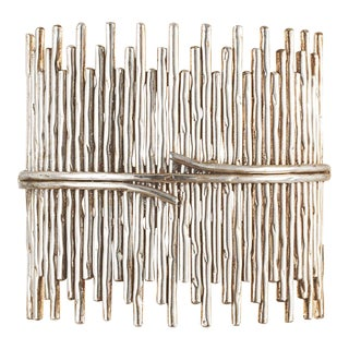 Silver Sculpture Wall Light For Sale