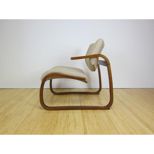 Danish Modern 1970s Danish Modern Oddvin Rykken Cantilever Bentwood Lounge Chair For Sale - Image 3 of 11