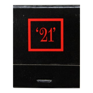 "The ""21"" Club Matchbook"