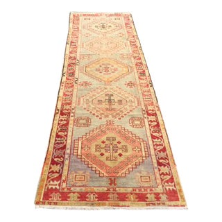 Turkish Antique Vintage Floor Hallway Runner - 2′10″ × 10′2″