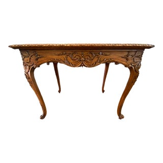 French Régence Leather Top Table For Sale