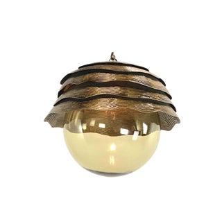 Arteriors Brass Lotus Pendant Light For Sale