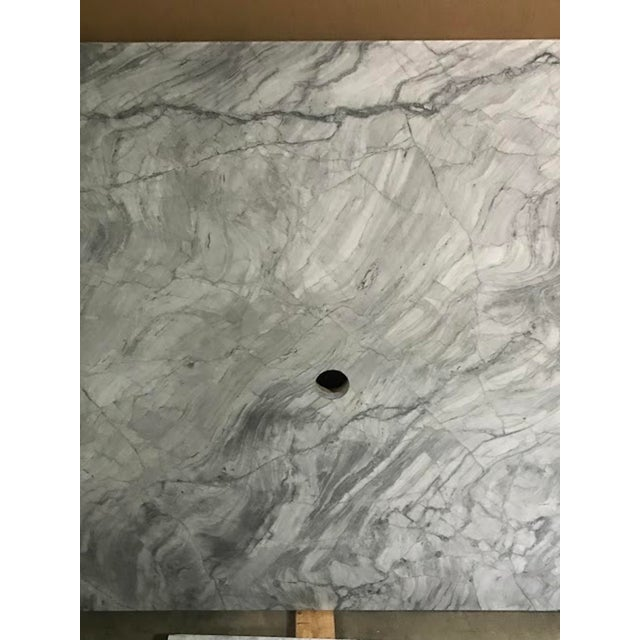 Modern Custom Carrera Marble Island or Counter Top For Sale - Image 3 of 9