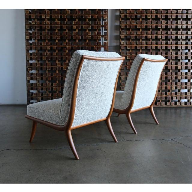 1950s t.h. Robsjohn-Gibbings Slipper Chairs for Widdicomb Circa 1955 For Sale - Image 5 of 12