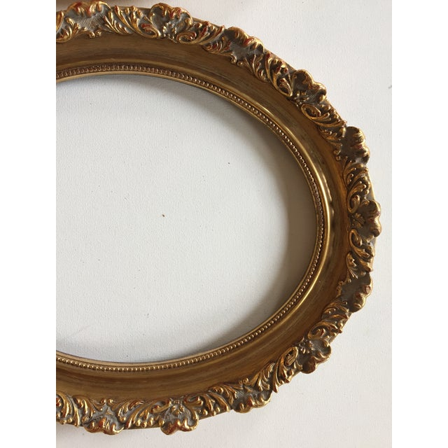 Traditional Vintage Oval Gold Wood Frames - A Pair For Sale - Image 3 of 7