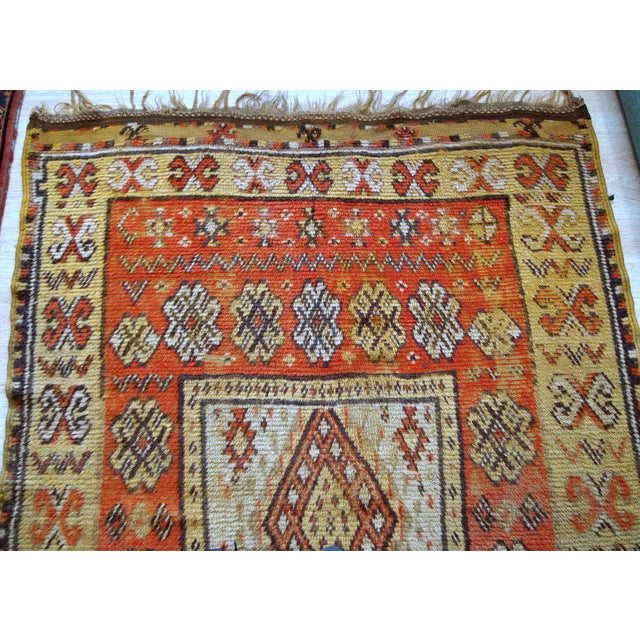 Red 1900s Handmade Antique Moroccan Berber Rug 4' X 7.6' For Sale - Image 8 of 11