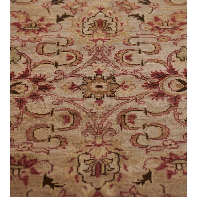 Handwoven Revival Agra Style Wool Rug For Sale - Image 9 of 13