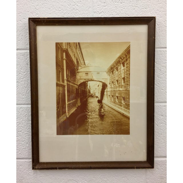 Traditional Vintage Sepia Photograph of Venice For Sale - Image 3 of 11