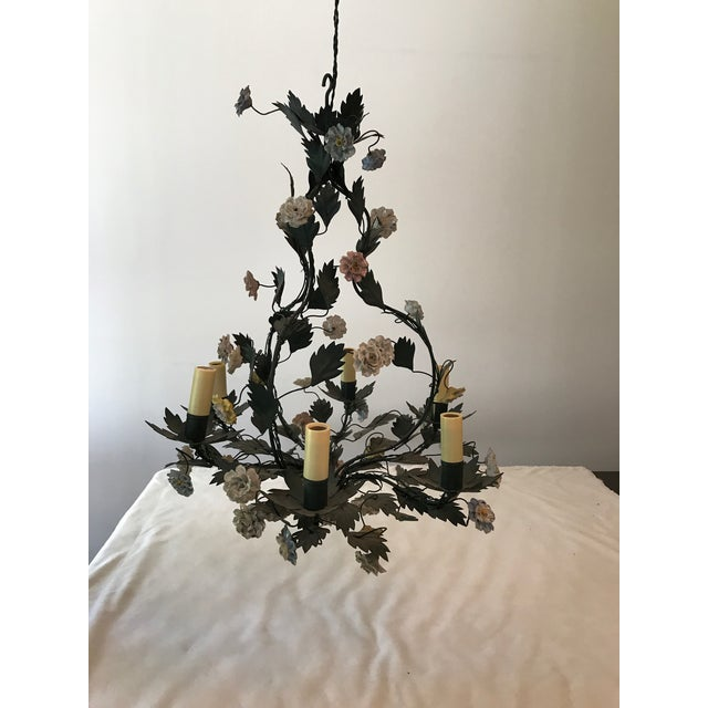 French Tole Chandelier - Image 3 of 8