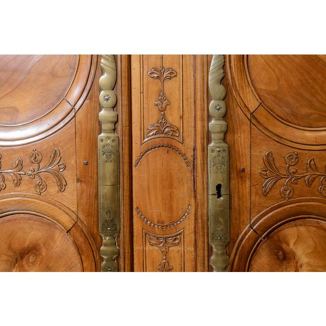 Mid 18th Century Mid 18th Century French Cherry Double Dome Armoire For Sale - Image 5 of 8