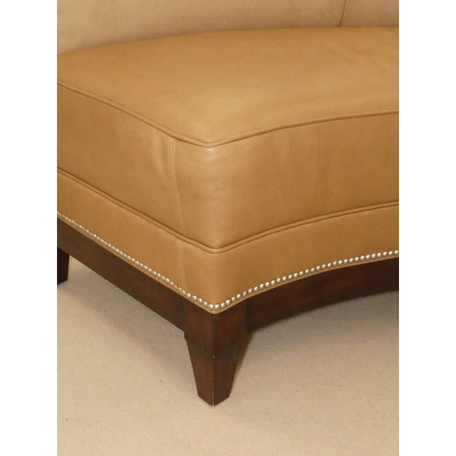 Stanford Furniture Leather & Suede Garrett Curved Dining Bench or Banquette- a Pair For Sale - Image 9 of 13