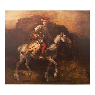 """1959 """"The Polish Rider"""" by Rembrandt, Vintage First Edition Lithograph For Sale"""