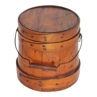 19th Century Shaker Style Sugar Bucket From New England For Sale