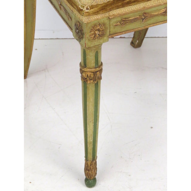 Paint Decorated Louis XVI Dining Chairs - Set of 6 - Image 4 of 7