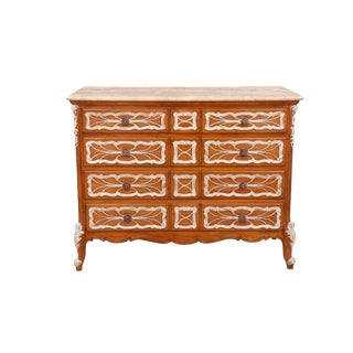 Carved French Dresser With German Marble Top For Sale