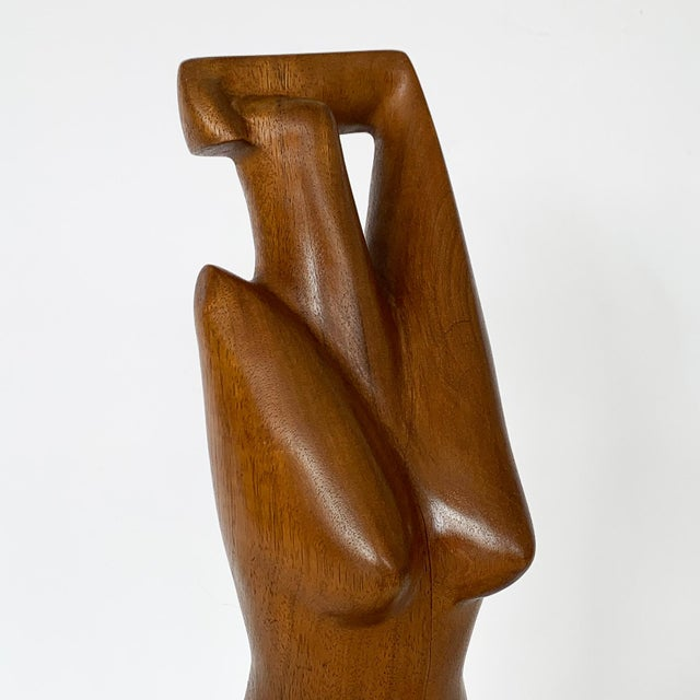 G. Lynch Carved Solid Wood Nude Abstract Sculpture For Sale - Image 9 of 13
