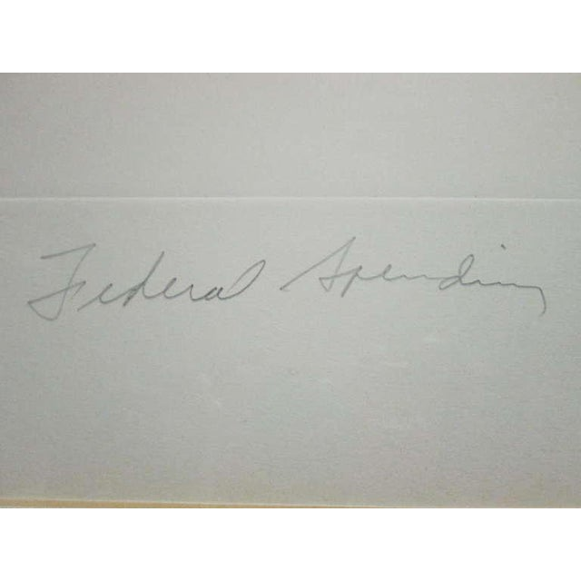 "Paint ""Federal Spending"" by James Rosenquist ed. 18/78 - Pencil Signed For Sale - Image 7 of 8"