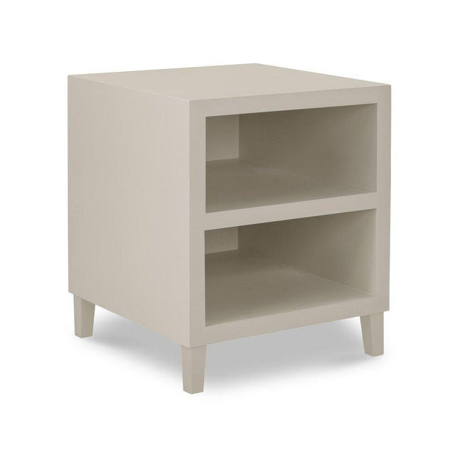 French Elza End Table in Slate Gray For Sale - Image 3 of 3